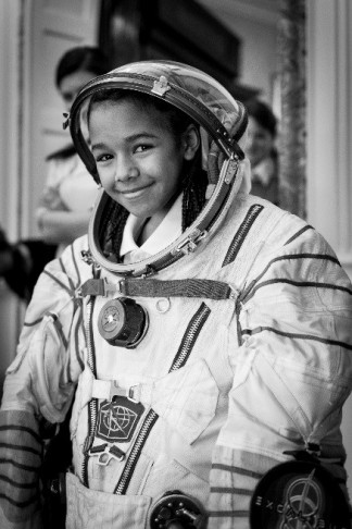 child in a space suit