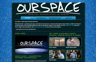 screenshot of Our Space website