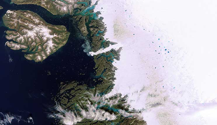 Ice on Greenland